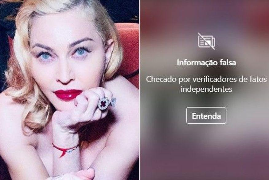 Madonna compartilha vídeo em defesa da cloroquina e Instagram censura postagem