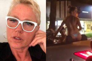 Xuxa diz que mulher que jogou garrafa de água no Leblon devia ter 'levado dois tapas'